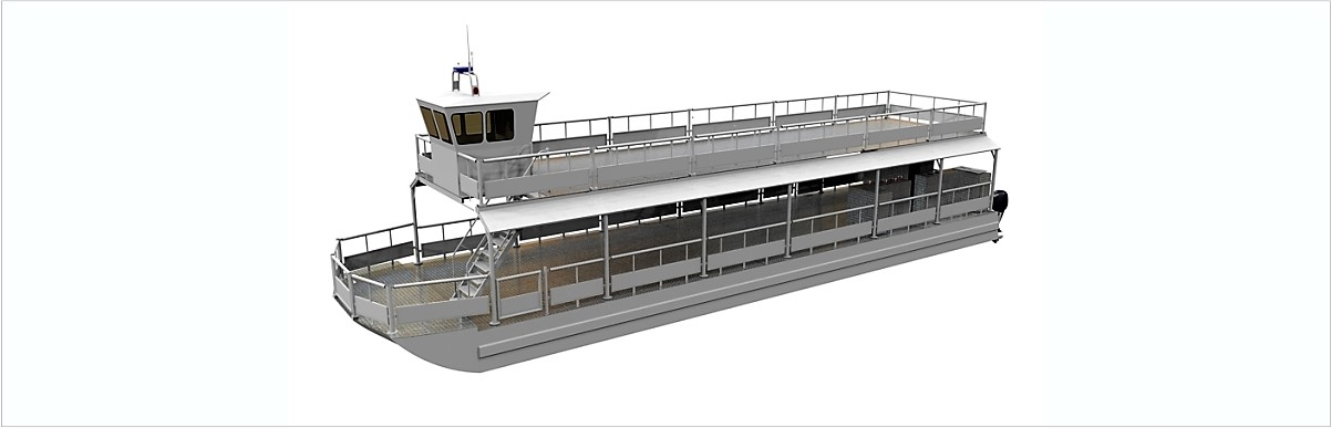 MODCAT superstructure design concept  for maximum passenger capacity